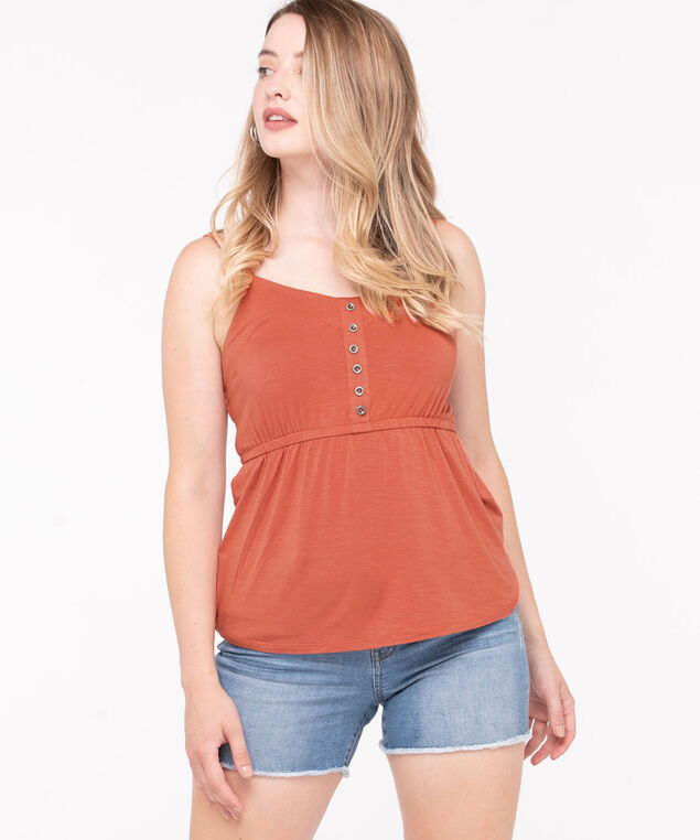 Strappy Smocked Back Top, Cayenne, hi-res