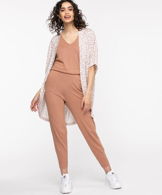 Sweater Knit Pull-On Jogger, Mocha Mousse