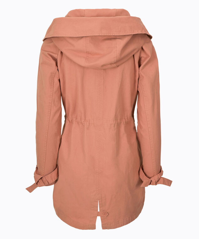 Hooded Cotton Anorak, Rose Pink, hi-res