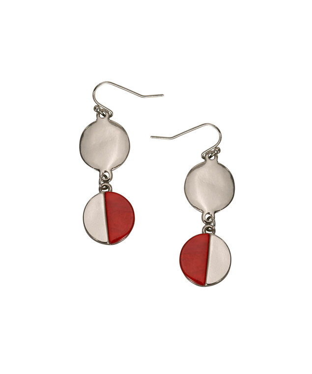 Geo Shape Drop Earring, Poppy/Rhodium, hi-res