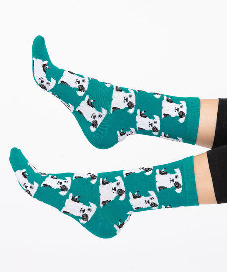 Teal Puppy Dog Socks, Teal/Black/White, hi-res