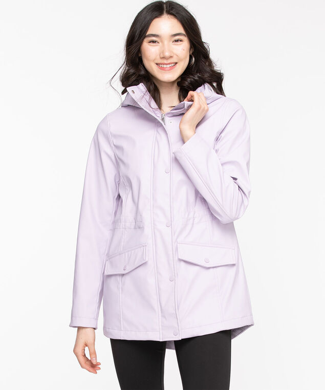 Hooded Rain Jacket, Orchid Petal