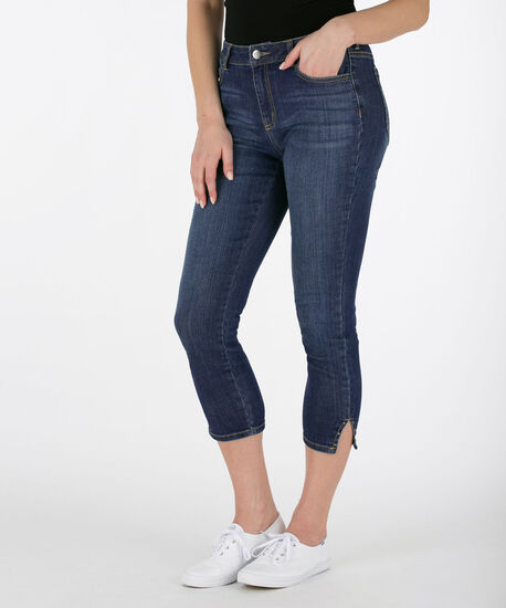 Studded Split Hem Crop Jean, Mid Wash, hi-res