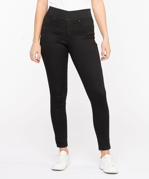 Black Pull-On Skinny Jean, Black
