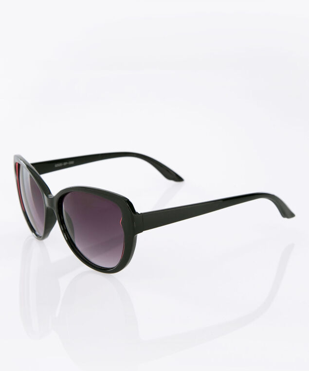 Butterfly Wing Sunglasses, Black/Pink, hi-res