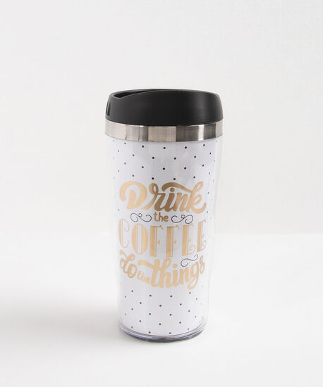 Drink the Coffee Travel Mug, Black, hi-res