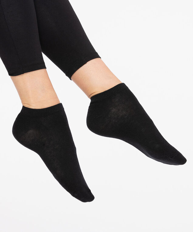 Black Basic Ankle Socks, Black