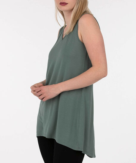 Sleeveless Button Back Detail Top, Light Sage, hi-res