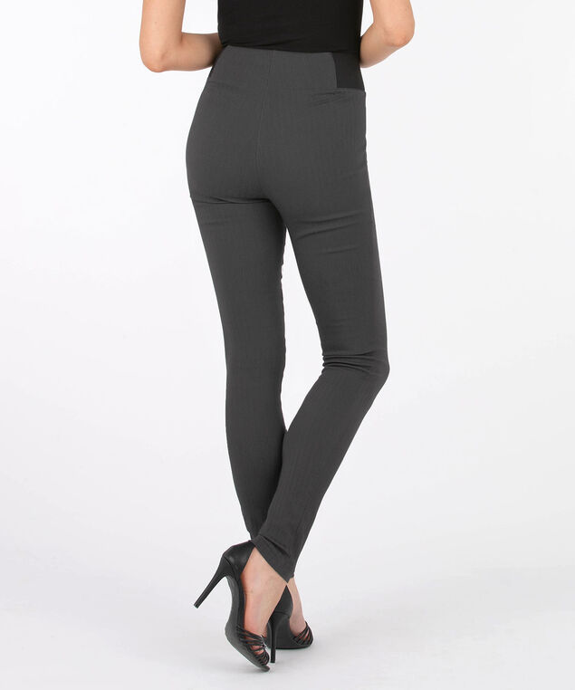 Jacquard Pull On Super Slim Leg, Charcoal, hi-res