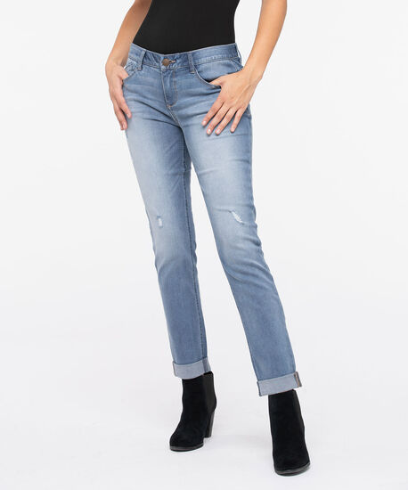 "Democracy ""Ab""Solution Girlfriend Jeans, Blue, hi-res"