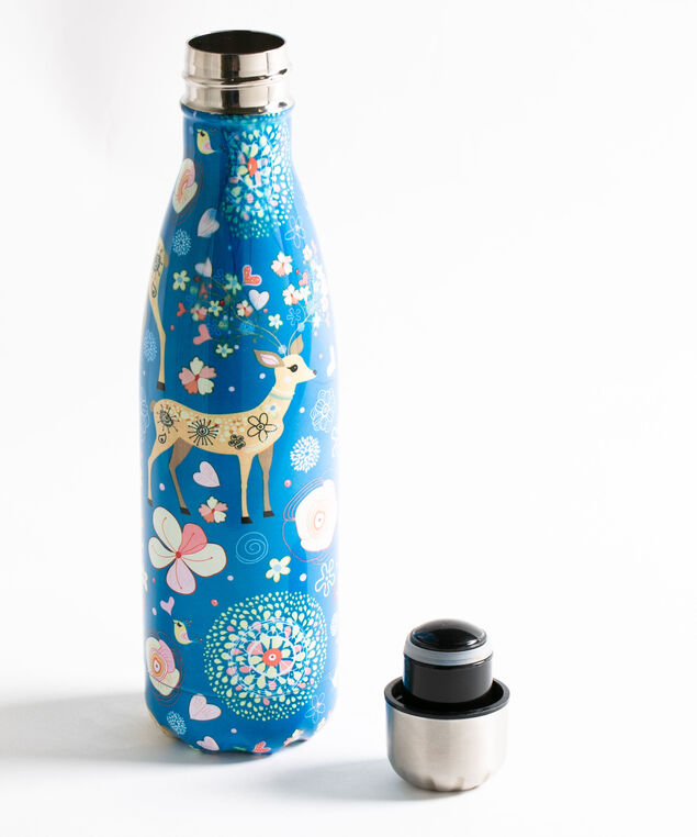 Whimsical Insulated Water Bottle, Bijou Blue