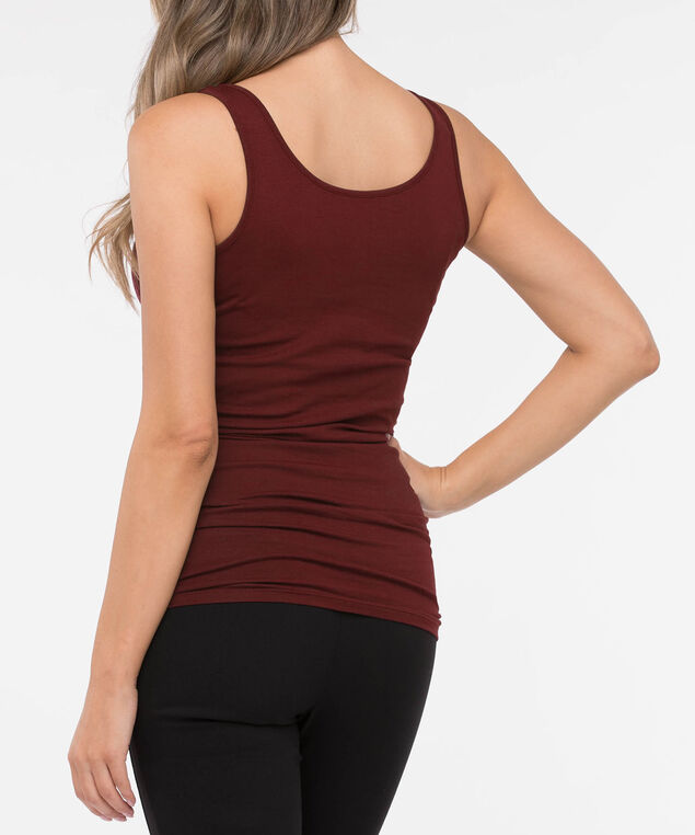 Tunic Length Cami, Dark Rust, hi-res