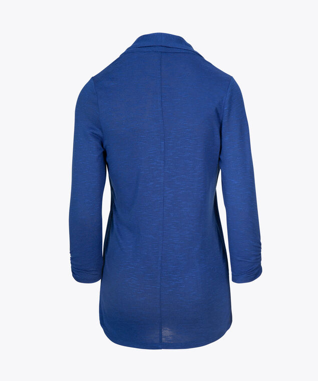 Shawl Collar Cardigan, Mid Blue, hi-res