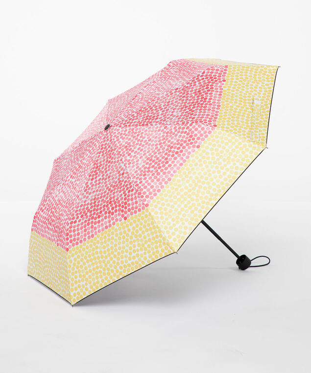 Coral Polka Dot Umbrella, Coral/Yellow Dot