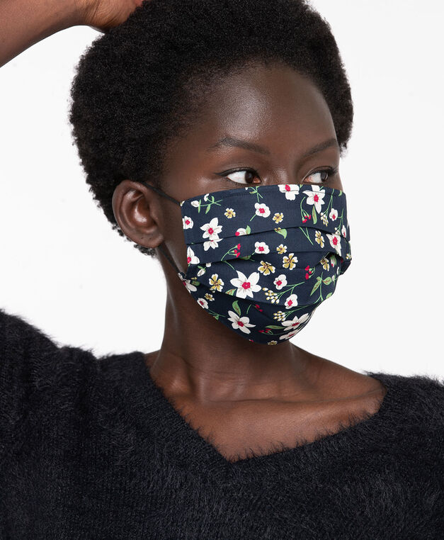 Printed Face Mask 2-Pack, Navy/Navy Floral