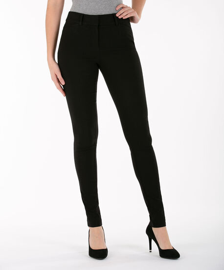 Microtwill Super Slim Leg, Black, hi-res