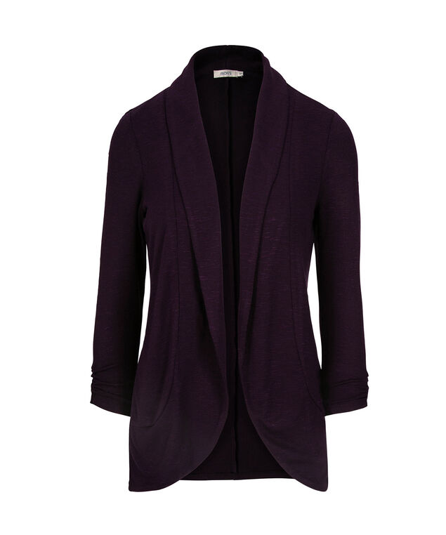 Shawl Collar Cardigan, Deep Purple, hi-res