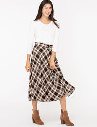 Plaid Belted Circle Skirt