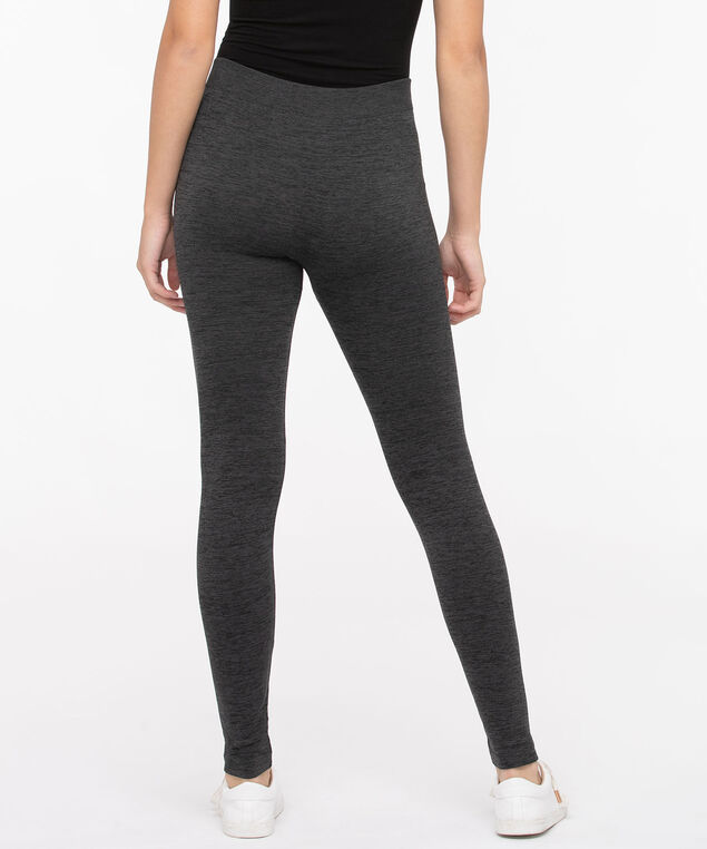 Space Dye Plush High Rise Legging, Charcoal, hi-res