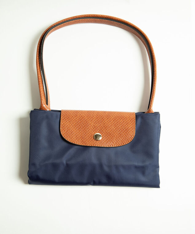 Nylon Packable Shopper Tote, Navy