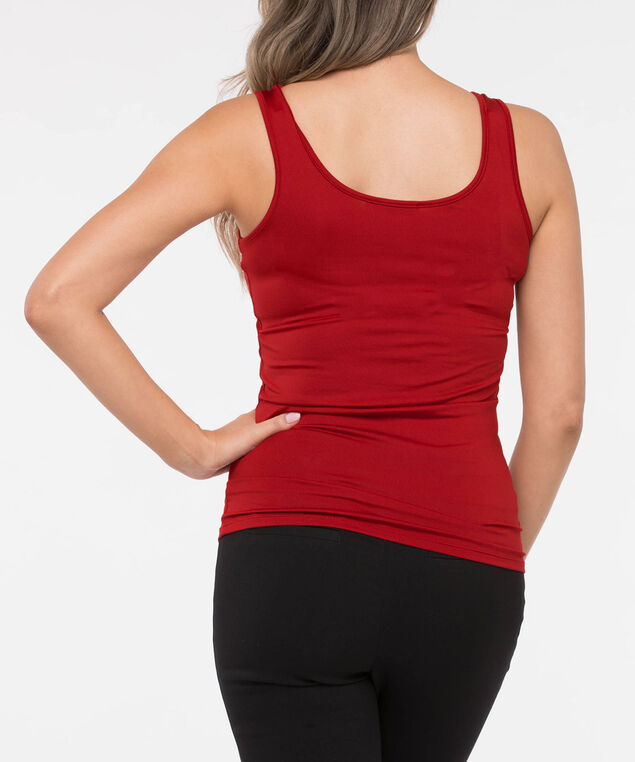 Built Up Scoop Neck Cami, Crimson, hi-res