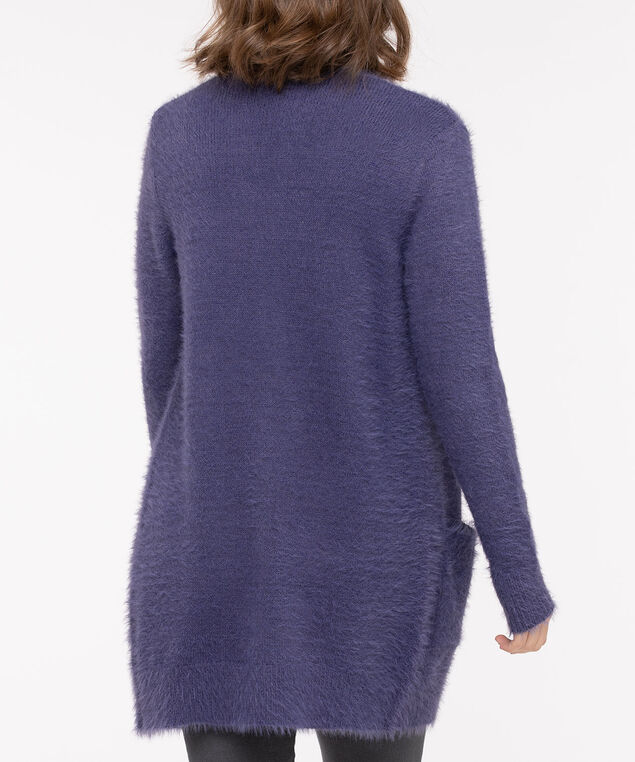 Wispy Patch Pocket Open Cardigan, Soft Periwinkle, hi-res