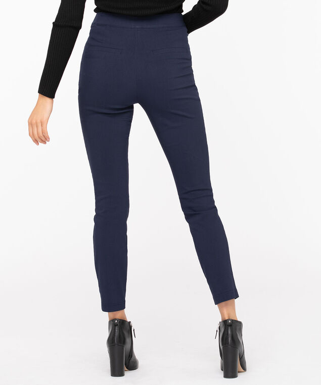 Microtwill Button Front Skinny Leg, Summer Navy, hi-res