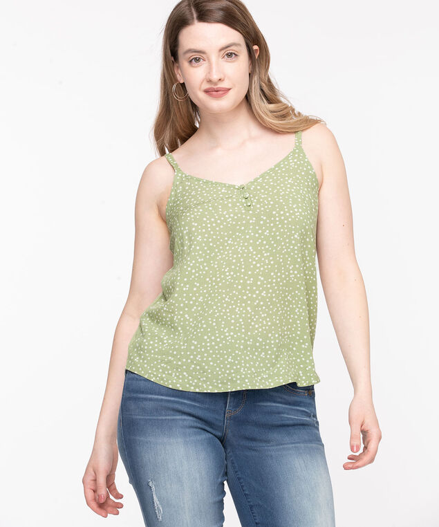 Strappy Patterned Cami, Reseda