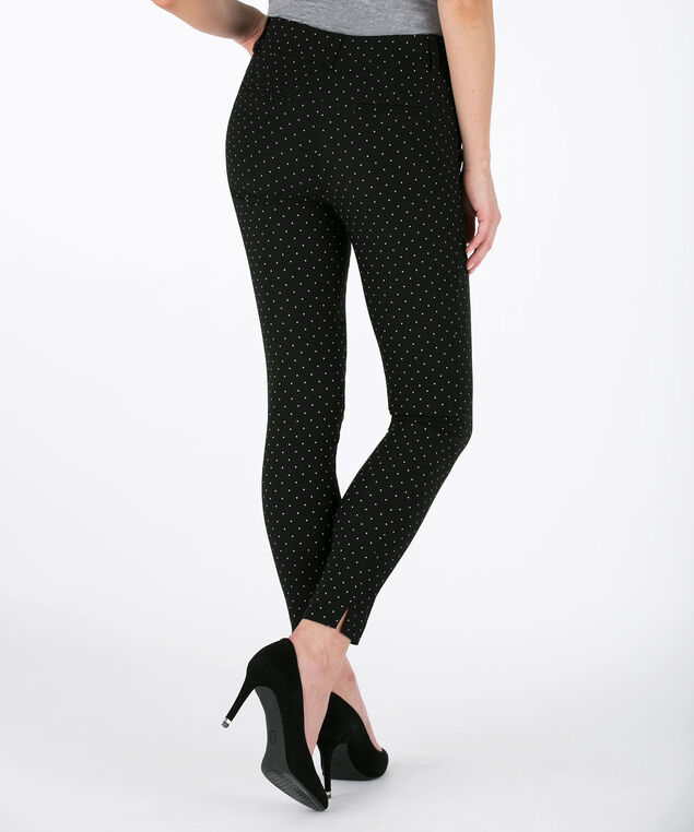 Microtwill Fly Front Ankle Pant, Black/White, hi-res
