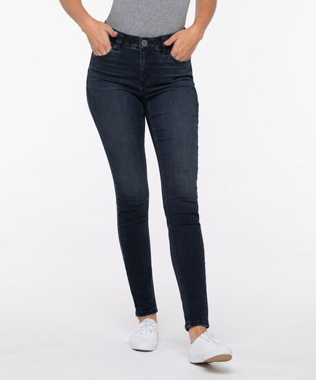 Dark Wash Fly Front Jegging, Indigo, hi-res
