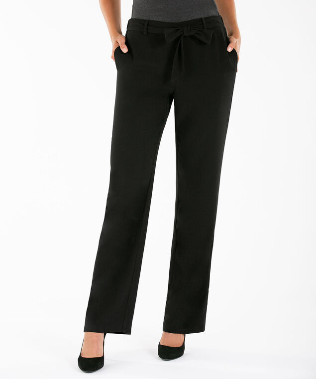 Tie-Front Wide Leg, Black, hi-res
