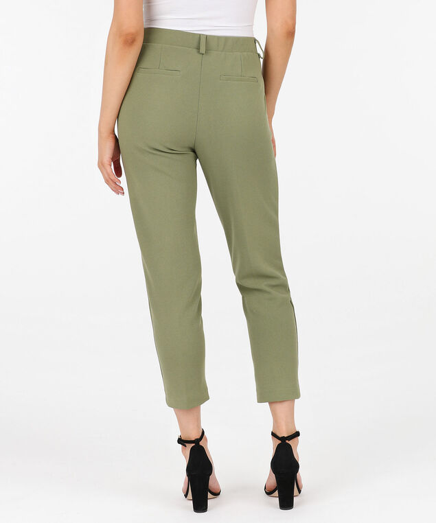 Scuba Crepe Pull On Ankle Pant, Sage, hi-res