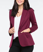 Long Sleeve Boyfriend Blazer, Burgundy, hi-res