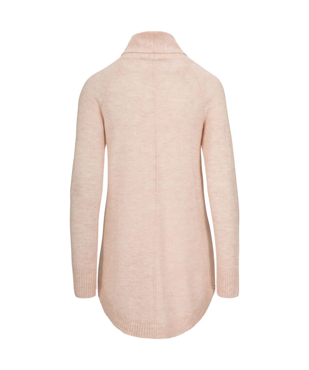 Plush Cowl Neck Pullover, Pale Pink, hi-res