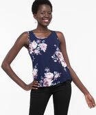 Button Back Sleeveless Blouse, Summer Navy/Rose Petal, hi-res