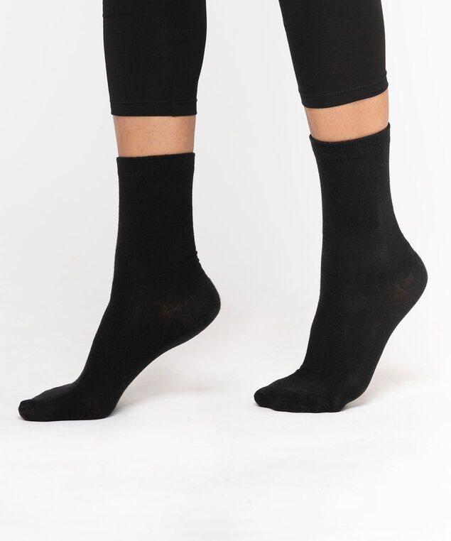 Basic Crew Socks, Black
