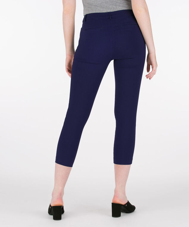 Microtwill Fly Front Crop Pant, Deep Sapphire, hi-res
