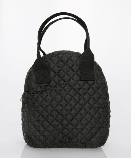 Quilted Foodie Lunch Tote, Black, hi-res
