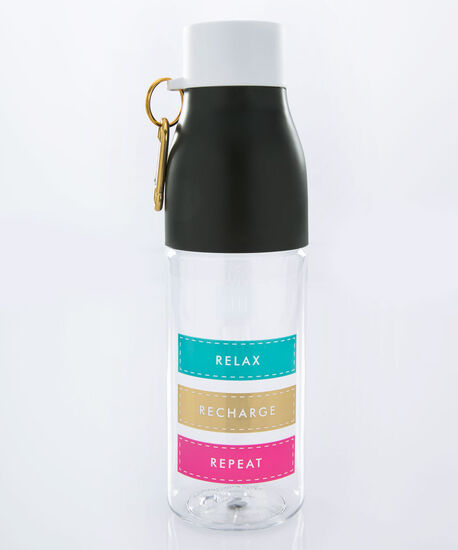 Relax Recharge Repeat Water Bottle, Blue/Pink/Gold, hi-res