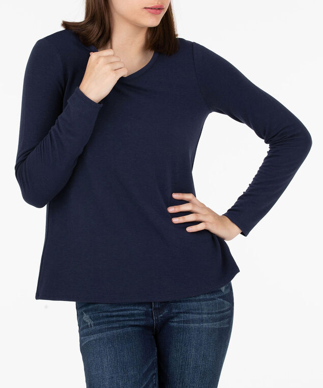 Criss Cross Back Pullover, Summer Navy, hi-res