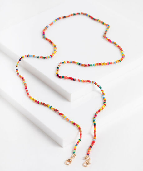 Colourful Tiny Bead Mask Chain, Assorted, hi-res