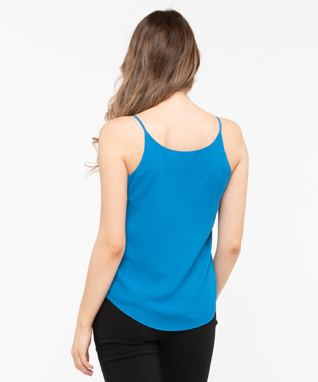 Reversible Layered Tank Blouse, Azure, hi-res