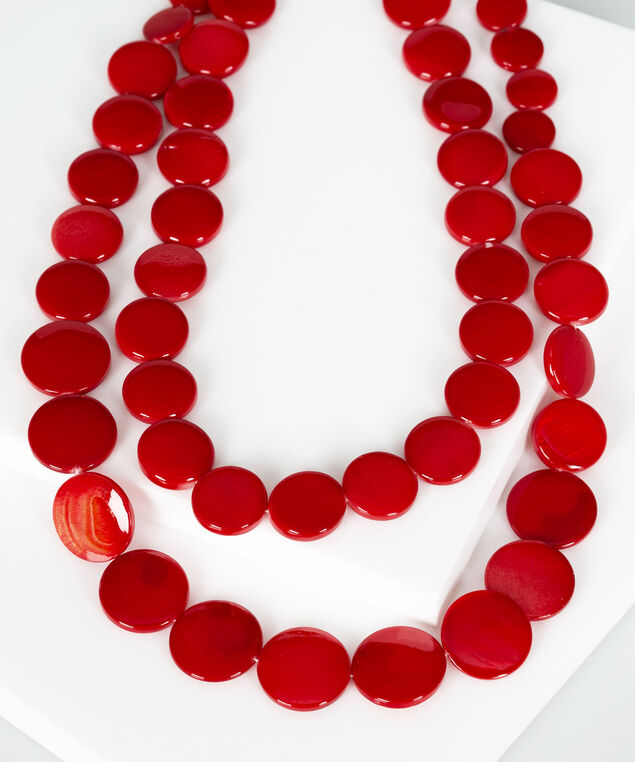 Multi Row Shell Statement Necklace, Hibiscus, hi-res