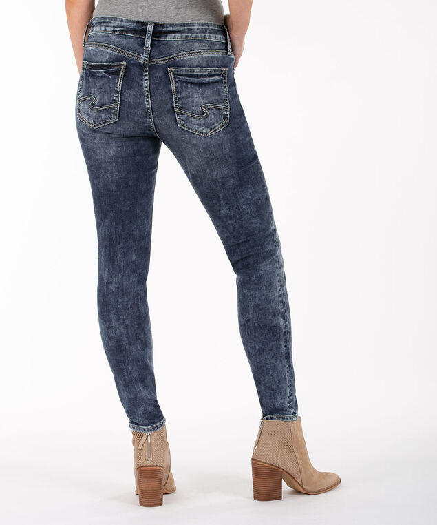 Silver Jeans Co. Elyse Skinny Jean, Mid Wash, hi-res