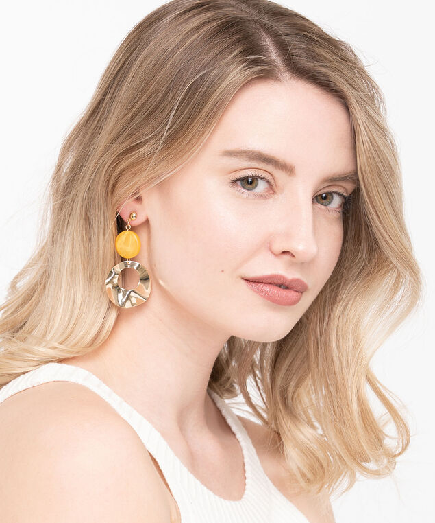 Golden Molten Metal Earring, Gold/Gold, hi-res
