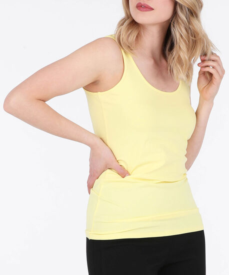 Scoop Neck Cami, Yellow, hi-res