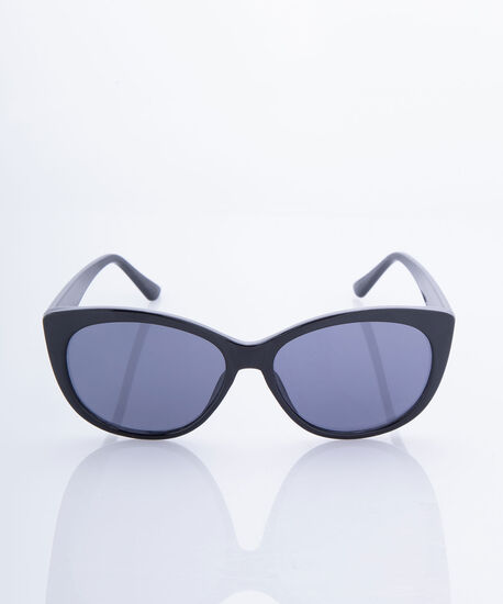 Classic Black Cateye Sunglasses, Black, hi-res