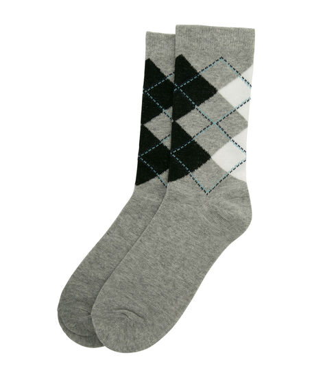 Argyle Socks, Grey/Black/Mint, hi-res