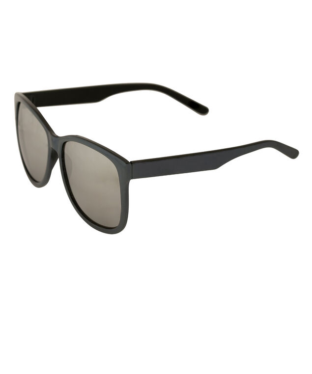 Irrisescent Frame Square Sunglasses, Navy/Grey, hi-res