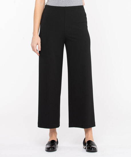 Scuba Crepe Wide Leg Crop, Black, hi-res